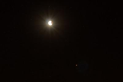 Moon flares Mars