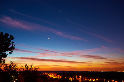Jupiter, Mars and Venus dancing with the Moon over Madrid-2