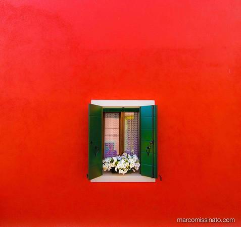 Red Wall Window