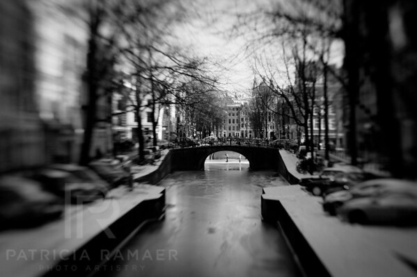 'Now and Then'  <br /> Frozen canal in Amsterdam with skaters.<br /> Custom print on command.