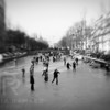 'Singel Skating'  <br /> Frozen canal in Amsterdam.<br /> Custom print on command.
