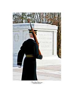 TOMB OF THE UNKONWN SOLDIER, under careful guard at Arlington National Cemetery in Arlington, Virginia.  For more information, go to ...... http://www.arlingtoncemetery.mil/visitor_information/tomb_of_the_unknowns.html