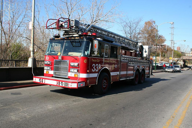 Truck Co. 33, 2002 Pierce Dash 100'