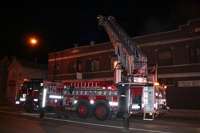 Chicago Tower Ladder 10 at a still-alarm 1-8-2012