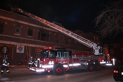 Chicago Truck Co.44 at a still-alarm 1-8-2012