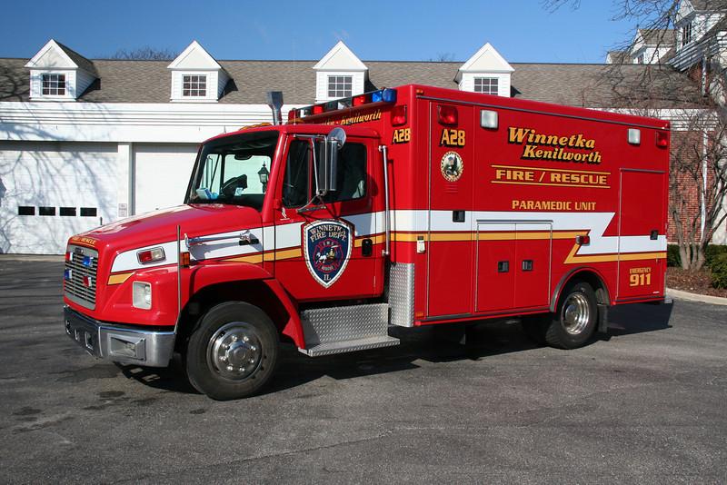 WINNETKA AMBULANCE 28R (purchased by Antioch Fire Dept 5/2013)