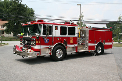 HOWARD COUNTY / ELLICOTT CITY ENGINE CO. 81 2010 SEAGRAVE 1500/750