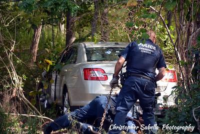 Brookhaven /Bellport  FD CAR THRU POLE