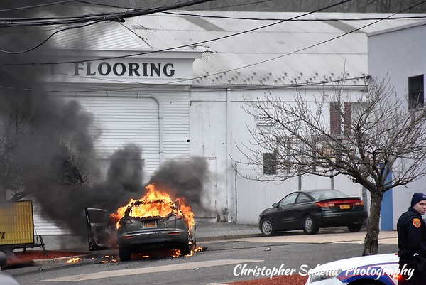 Coram -Middle island car fire