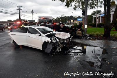 two cars collided coram
