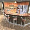 3D VIEW OF KITCHEN LAYOUT