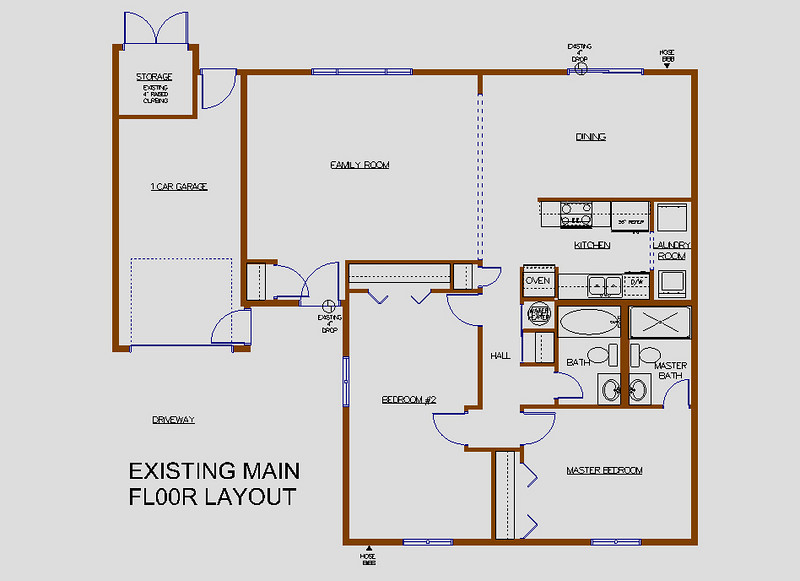 EXISTING MAIN FLOOR LAYOUT