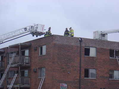 Tower 201 & Truck 2 on the roof