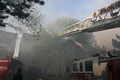 SKOKIE IL, 2-11 ALARM FIRE 5/10/2009