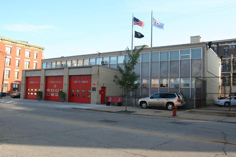 Engine Co., 14, Truck Co. 19, Battalion 3: 1129 W. Chicago (photo taken 10/27/2012)<br /> Built: 1961-62
