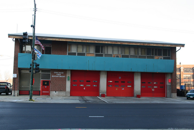 Engine Co. 4, Tower Ladder 10: 548 W. Division(photo taken 11/28/2010)<br /> Built: 1959-60