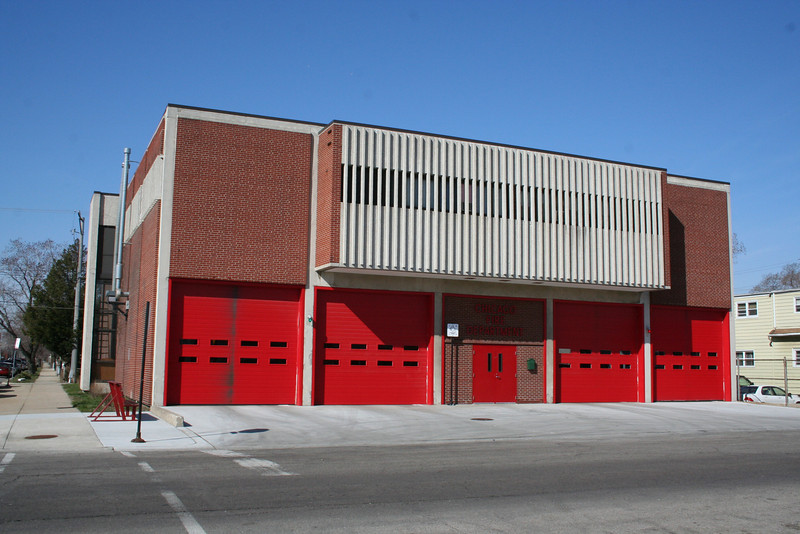 Engine Co. 28, Truck Co. 8, O.F.I. South: 2534 S. Throop (photo taken 4/12/2009)<br /> Built: 1963-64