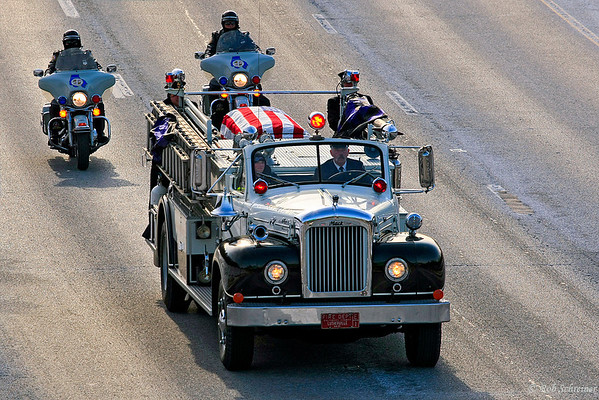 Lutherville Fire's Mark Falkenhan's funeral procession