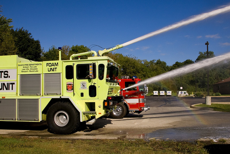 The Quad 2 foam unit was staged at our station durring the Waukegan air show.