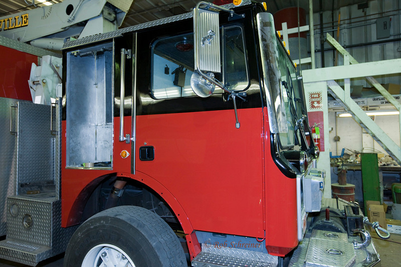 The new 1455 in the paint shop...Wheels will be red soon, until aluminum are obtained, striping to follow next.