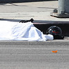 LAFD_ FATAL MOTORCYCLE CRASH : March 10th, 2012....CANOGA PARK  - A motorcyclist was killed today during a traffic crash in Canoga Park, a fire official said.   It happened in the 20900 block of Nordhoff Street. Firefighters and paramedics were dispatched to the scene at 12:56 p.m, Brian Humphrey of the Los Angeles City Fire Department said. Humphrey said the motorcyclist was wearing a helmet and that the crash involved a utility pole and possibly a vehicle.   Photos by Juan Guerra