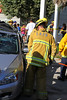 LAFD TRAFFIC COLLISION TAMPA & PARTHENIA : SATURDAY JULY 21TH, 2012