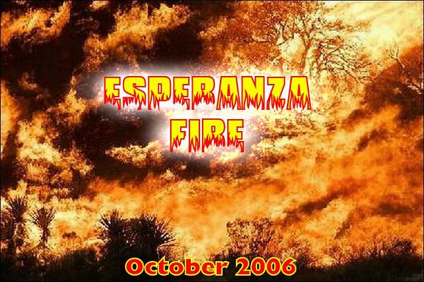 Esperanza Fire 2006, We Lost 5 Firefighters Here