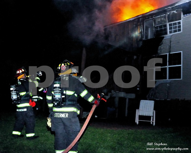 Today, October 17, 2018 at 2:39 AM, the McHenry Township Fire Protection District was<br /> dispatched to a residential structure fire in the 1800 block of Redwood Ln in the City of McHenry.<br /> Crews quickly arrived and found a two story single-family residence heavily involved in fire. A<br /> quick fire attack was initiated. Fire crews aggressively worked to extinguish the fire while other<br /> crews searched the residence for occupants. Within minutes of fire department arrival the residence<br /> was searched and firefighters confirmed all occupants had safely exited. The fire was brought<br /> under control within 20 minutes and fully extinguished within an hour.<br /> The house is uninhabitable. A damage estimate is not yet available.<br /> There were no injuries.<br /> MTFPD received assistance from the following fire departments to cover our stations and provide<br /> personnel at the scene: Woodstock, Richmond, Fox Lake, Wonder Lake, Spring Grove, Round<br /> Lake, Crystal Lake, Lake Villa, Wauconda and Nunda.