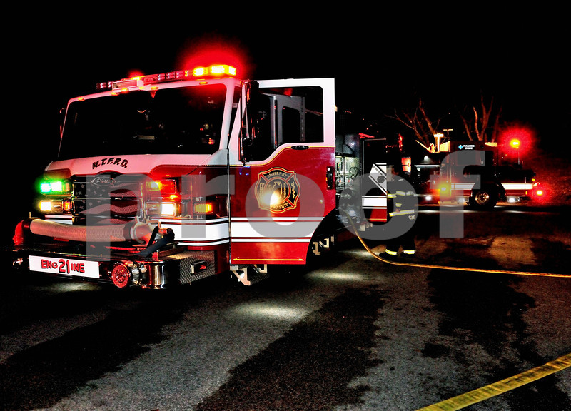 2715 STILLING POOL SHED FIRE - WAITING FOR WATER REFILL FROM THE TENDER
