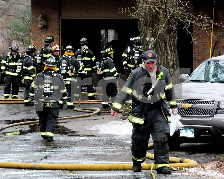 The McHenry Township Fire Protection District (MTFPD) was dispatched on 1/1/2019 at 1:36 pm to 2816 Sterling Dr. in McHenry IL for a structure fire. Emergency response units arrived on the scene within 4 minutes and found a large house with the attached garage on fire. Crews aggressively attacked the fire and had it under control in about 10 minutes. Seven pieces of McHenry Township Fire Protection District apparatus responded to the scene consisting of 27 firefighters. In addition, Spring Grove and Fox Lake Fire assisted at the scene. Wonder Lake Fire provided station coverage during the fire. The McHenry County Sheriff's Department also responded to the scene.<br /> There were no civilian or firefighter injuries. Damage was contained mostly to the garage and the home was still habitable and turned back over to the homeowners. The damage is estimated at $30,000. The cause of the fire is believed to be accidental in nature and is under investigation by MTFPD investigators.
