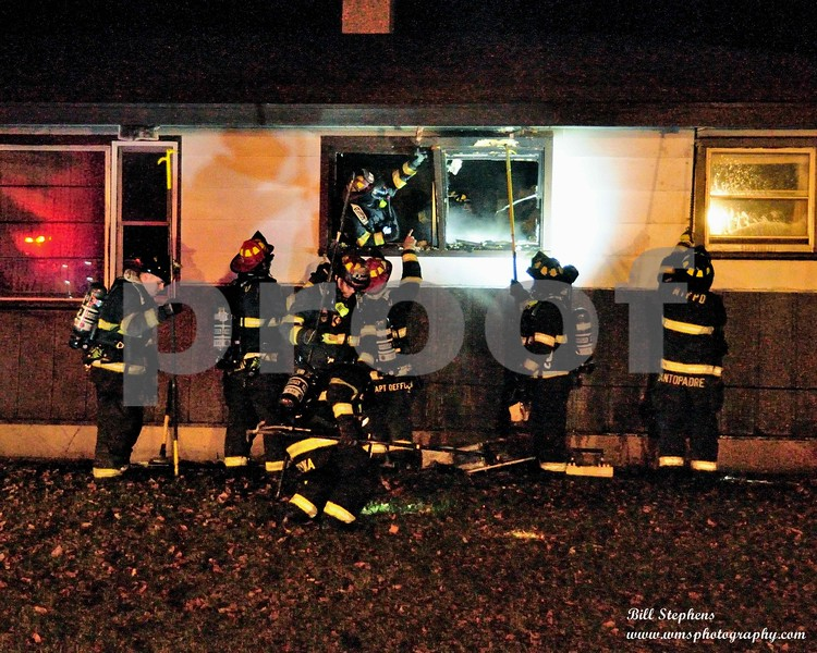The McHenry Township Fire Protection District (MTFPD) was dispatched on 1/4/2019 at 9:59 pm to 4500 Parkway Ave. in McHenry IL for a structure fire. Emergency response units arrived on the scene within 4 minutes and found a small ranch house with flames coming out of one window. Crews attacked the fire and had it under control within 5 minutes. Seven pieces of MTFPD apparatus responded to the scene consisting of 30 firefighters. In addition, Nunda Fire provided station coverage during the fire. The McHenry Police Department also responded to the scene.There were no civilian or firefighter injuries. Fire damage was contained to the bedroom of origin. The house and contents sustained smoke damage. The house was un-inhabitable due to the smoke and fire damage. The damage is estimated at $25,000.