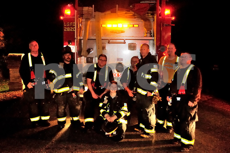 The attack crew that stopped the fire loss and saved the house from further damage...WMS PHOTOGRAPHY