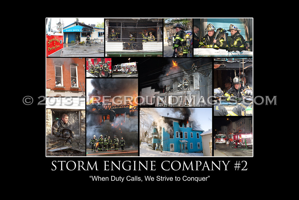 Storm Engine Company #2 Poster Print