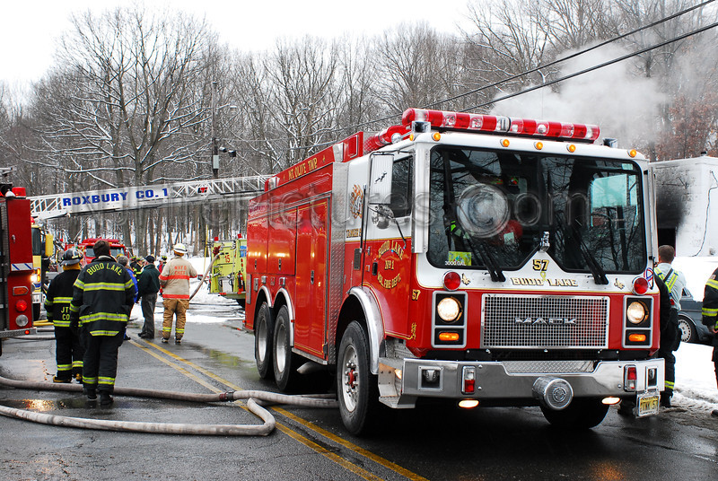 Budd Lake Tanker 57 operates at the scene of a fire in Roxbury Twp. Photo By: Adam Alberti