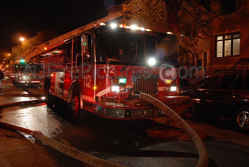 Chicago Engine 112 at a Still & Box Alarm on West Addison just blocks from Wrigley Field.