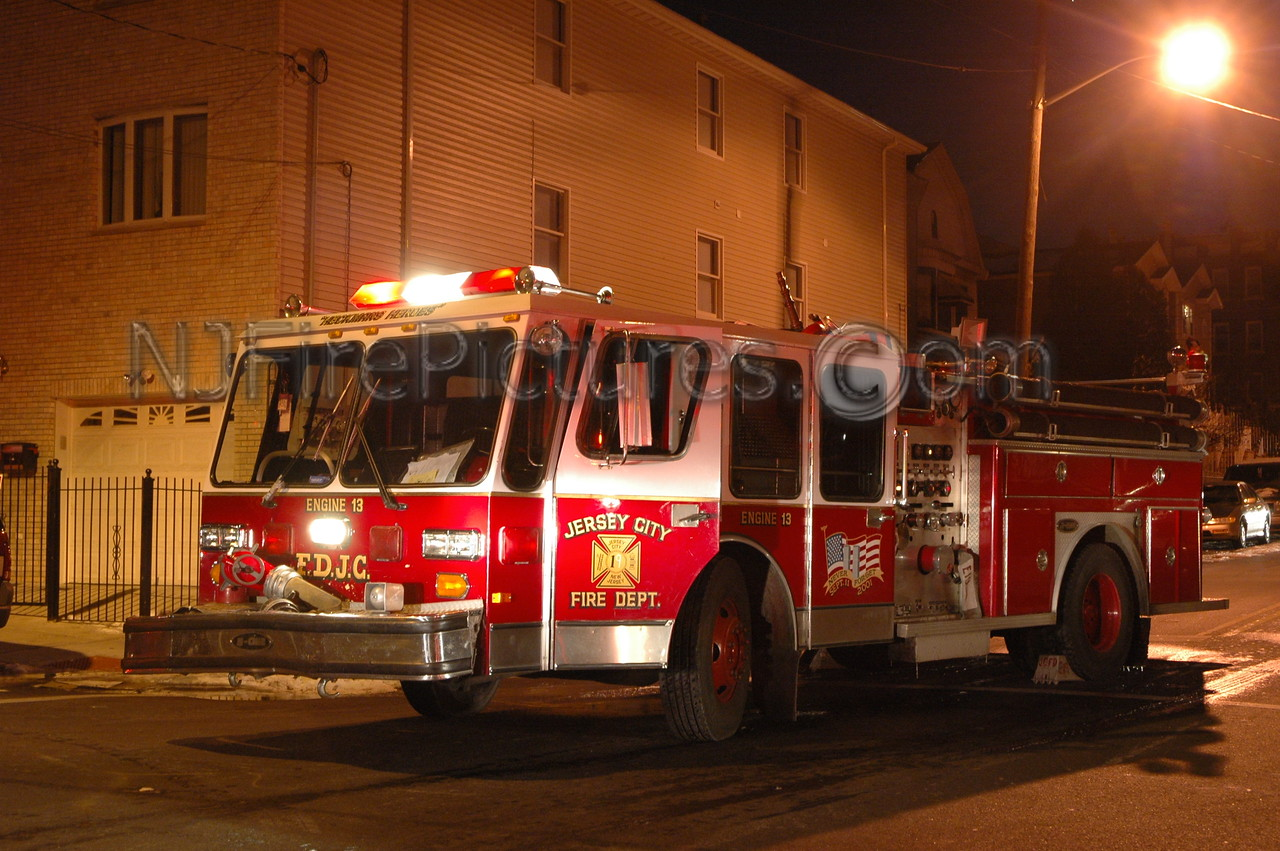 Jersey City, NJ Engine 13' E-ONE pumper..