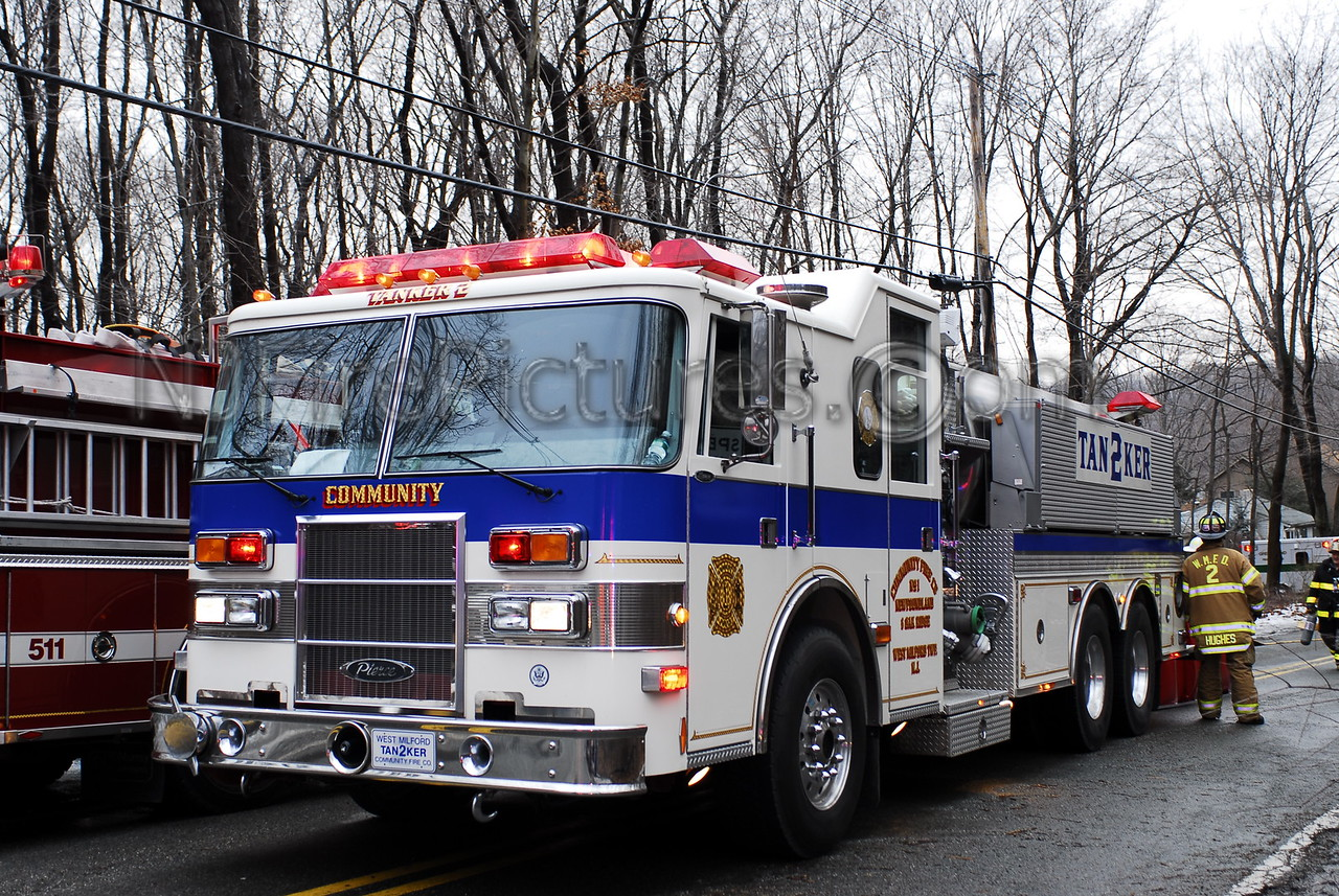 West Milford, NJ Tanker 2 working mutual aid in Rockaway