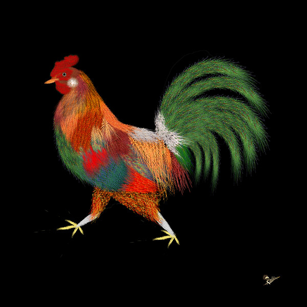 Rooster Flambe' - L