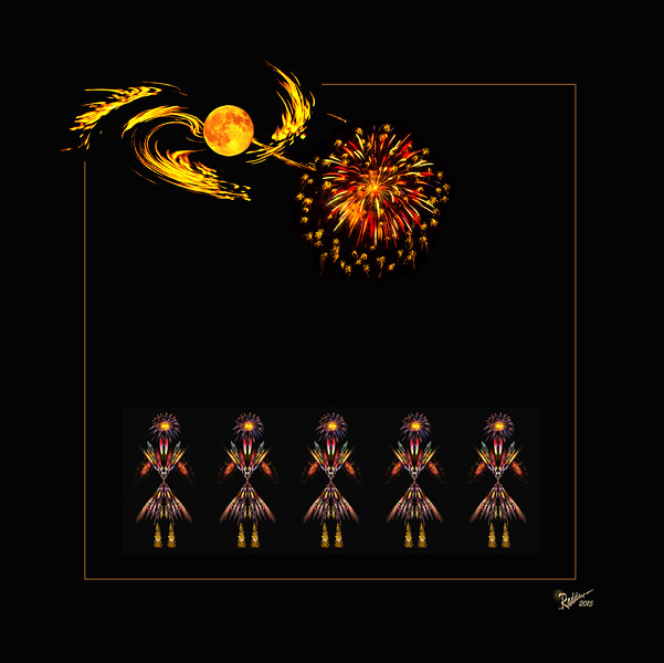 Creation of Fireworks Dancers from Moonlight