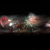 Multiple explosure of New Years fireworks