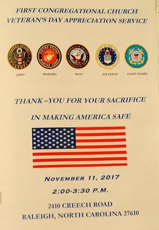 FCC Veteran's Day Appreciation Service