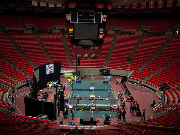 Hunstman Center as setup was mostly complete the day before the compeition began.