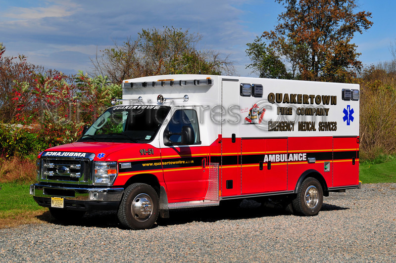 QUAKERTOWN, NJ AMBULANCE 91-51 - 2010 FORD/BRAUN