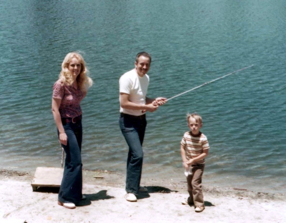 Fishing at Irvine Regional Park with Lisa and Tommy on August 15, 1077