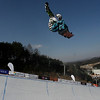 GANGWON,KOREA. JANUARY 23, (France OUT). Jiayu Liu of China take 1st Place during Snowboard FIS World Championship. WomenÕs Half pipe on January 23th, 2009 in Gangwon,Korea. (Photo by Agence Zoom/Getty Images)