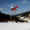 GANGWON,KOREA. JANUARY 23, (France OUT). Ryoh Aono of Japan take 1st Place during<br />  Snowboard FIS World Championship. MenÕs Half pipe on January 23th, 2009 in Gangwon,Korea. (Photo by Agence Zoom/Getty Images)