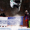 GANGWON,KOREA. JANUARY 23, (France OUT). Mathieu Crepel of France take 3rd Place during<br />  Snowboard FIS World Championship. MenÕs Half pipe on January 23th, 2009 in Gangwon,Korea. (Photo by Agence Zoom/Getty Images)