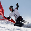 GANGWON,KOREA. JANUARY 20, (France OUT)<br /> Mattthew Morison of canada take 3rd place During<br />  Snowboard FIS World Championship. MenÕs Parallel Giant Slalom on January 20th, 2009 inGangwon,Korea. (Photo by Agence Zoom/Getty Images)