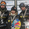 2013 FIS Snowboard World Championships - Big Air - Podium - f.l.t.r.: 2nd Niklas Mattsson (SWE), 1st Roope Tonteri (FIN), 3rd Seppe Smits (BEL) © FIS/Oliver Kraus