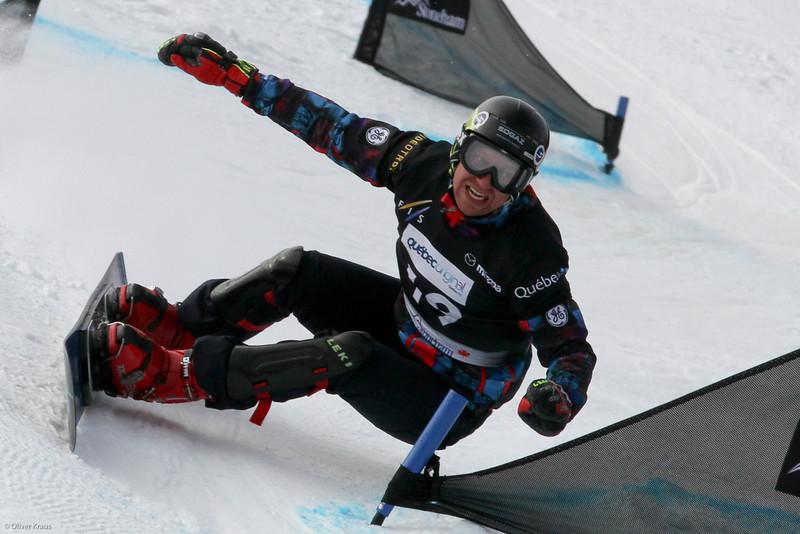 2013 FIS Snowboard World Championships - Parallel Slalom - Aleksander Belkin (RUS) © FIS/Oliver Kraus